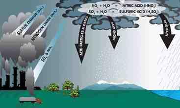 مقاله آلودگی هوا و چگونگی تشکیل باران اسیدی