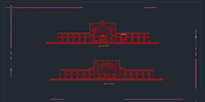 دانلود نقشه اتوکد مسجد امام اصفهان