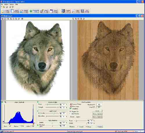 نرم افزار PhotoGrav 3.0 مخصوص حکاکی عکس با لیزر
