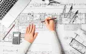 گزارش کارآموزی دفتر فنی مهندس گلچین با موضوع نقشه کشی ساختمان