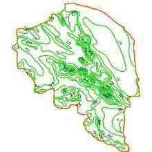 نقشه خطوط هم بارش استان کرمان