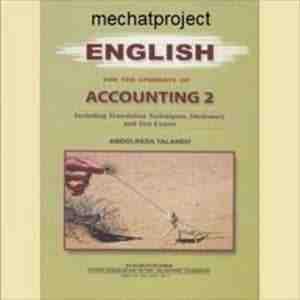 ترجمه زبان تخصصی حسابداری جناب آقای عبدالرضا تالانه (جلد دوم)